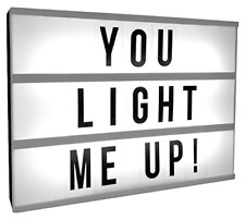 Mini Cinematic Led Light Up Box Frame With Letters Word Display Sign Decor Gifts