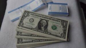 100 US $ in einzelnen Geldscheinen - echte USA Dollar Banknoten   - l@@k -