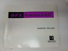 Number Nine 9FX Vision 330 Graphics Card Manual and OS/2 Driver Disks