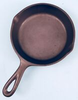 "Antique Cast Iron #3 LODGE 3-NOTCH 7 3/8"" SKILLET ~ Restored ~Seasoned ~SMOOTH"