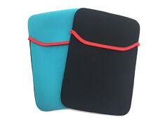 Universal 10 Zoll Tablethülle Softcase Neopren Schwarz Türkis
