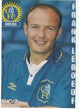 Frank Leboeuf Chelsea 1996-2001 originale firmato a mano (due volte) Rivista di taglio