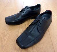 Kickers Men's Derby Lace Up Smart Black Leather Shoes Size UK 6.5 EU 40