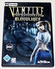 VAMPIRE - THE MASQUERADE - BLOODLINES - UNCUT - PC SPIEL IN DVD HÜLLE & HANDBUCH