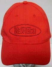 NEX-TECH Broadband Network Internet Technology ADVERTISING LOGO Red HAT CAP