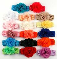 lace elastic headband with flower for baby girl infant photoshoot etsy