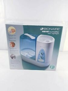 BIONAIR HUMIDIFIER BWM 5075 - MED SIZE WITH NIGHTLIGHT WARM 11.5L - NEW SEALED