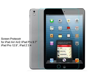 "Glass Screen Protector For iPad Air, Air2, iPad 9.7"" 5th Gen, iPad 9.7"" 6th Gen"