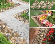 Stone Garden Border Set of 4 Path Mats Rock Walkway Decoration Edging Yard Lawn