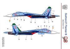 "Hungarian Aero Decals 1/72 RUSSIAN SUKHOI Su-27 FLANKER B ""THE SHARK"" Scheme"