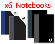 6 x A4 A5 A6 A7 WRITING HARDBACK NOTEBOOK HARD BACK HARDBOOK LINED NOTE BOOK PAD