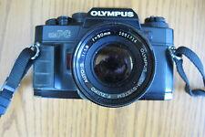 OLYMPUS OM-PC 35MM SLR FILM CAMERA W/ ZUIKO 1:1.8 50MM LENS. TESTED!