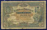 Portugal  Banknotes  1000 Reis 1896 P73 VG/FINE 06947 RARE DATE NEVER SEE 1896