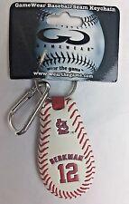 GAMEWEAR MLB GENUINE BASEBALL LEATHER St Louis BERKMAN 12 SEAM KEY CHAIN NEW