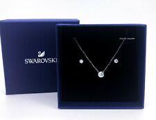 New SWAROVSKI Rhodium Sparkle Attract Crystal Stud Earrings Necklace Set 5113468