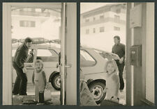 orig. Agfa Fotoabzüge Auto Kfz Volkswagen VW Golf I Ski Wintersport Inzell 1975