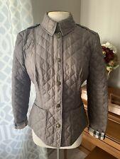 BURBERRY Kencott Quilted Jacket, Nova Check, Lined, Lightweight, Taupe, Medium