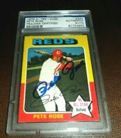 RARE 1975 OPC TOPPS #320 PETE ROSE REDS SIGNED O-PEE-CHEE BASEBALL AUTO PSA/DNA