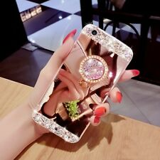 Ring Holder Stand Kickstand Mirror Bling Crystal Case For iPhone 8/Samsung S8