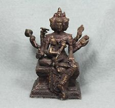 "3.5"" Phra Prom God Brahma Kuman Thong Voodoo Statue Antique Thai Amulet Buddha"