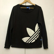 Vintage ADIDAS Sweater Pullover Classic Retro Black Small