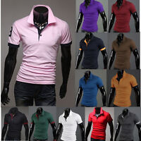 Men's Summer Slim Fit Casual Short Sleeve Shirts T-shirt New Vest Tee Top Blouse