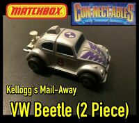 Matchbox Connectables Kellogg's Mail-Away VW Beetle (2 Piece) Vintage 1989/90