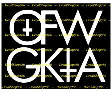 OFWGKTA -Odd Future Wolf Gang - Wiz Khalifa - Vinyl Die-Cut Peel N' Stick Decals