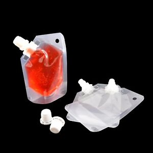 50 ml Stand Up Spout Pouch Bags For Liquid Juice Sauce Shampoo Bags Packaging