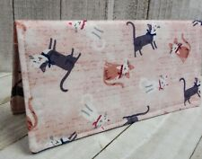 Cats WALLET Bifold Debit Card Registry Cash Cover Coupon Holder Fabric Handmade