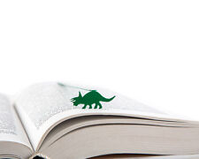 Dinosaur Triceratops - steel bookmark - 7 inches / 17 cm long