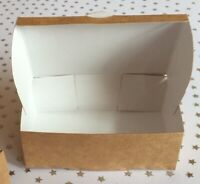 30 Brown Kraft ♻️ Luxury White Lined  Single slice Cake ~ Gift boxes ♻️  5~Sizes