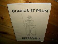 Fantasyspiel Gladius Et Pilum Depesche1 Rollenspiel 1989 Auszüge aus Spielerzeit