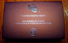 2016 AMERICAN EAGLE PLATINUM PROOF COIN PRESENTATION BOX 16EJ NO COIN OR COA