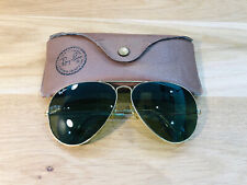 Vintage Ray Ban Aviators B&L Sunglasses Bausch&Lomb USA 62[]14 Gold RB3 Used