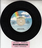 "BRIAN HYLAND  Gypsy Woman & Lonely Teardrops 7"" 45 rpm record + juke box strip"