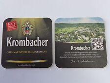 Beer Coaster ~ KROMBACHER Privatbrauerei No 1 Premium Brand ~ GERMANY Since 1803