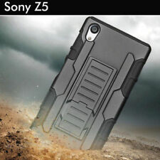 TPU Case Cover For Sony Xperia Z5 Heavy Duty Tough Shockproof Kickstand Armor