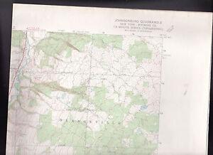 Johnsonburg Quadrangle Wyoming Co New York US Geological Society Map 1966