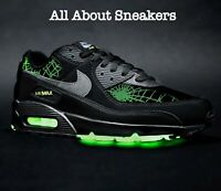"Nike Air Max 90 ""Black Smoke Grey Limelight"" Trainers Limited Stock All Sizes"