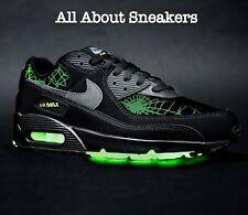 """Nike Air Max 90 """"Negro Gris Humo Limelight"""" entrenadores Limited Stock Todos Los Tamaños"""