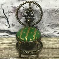 Limoges France Peint Main JPC Chair Greeb Trinket Box Opening Miniture