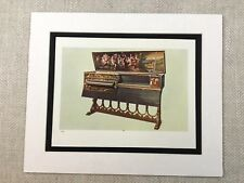 1888 Music Print Virginal Harpsichord Old Musical Instruments Victorian Original