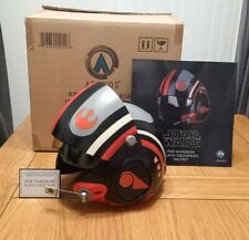 More details for anovos star wars poe dameron replica x-wing helmet + custom plaque-uk