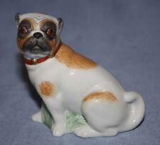 Mops pug porzellanfigur  figur  figura figure gemarkt hundefigur hund