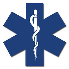 "Star of Life 3"" Die Cut Reflective Emergency Medical EMT First Responder Decal"