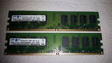 2x2GB (4GB) Samsung 2GB 2Rx8 PC2-6400U-666-12-E3 DDR2 RAM Arbeitsspeicher