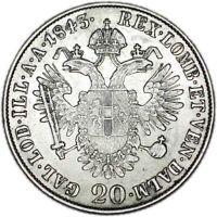 AUSTRIA coin 20 Kreuzer 1843 M XF+