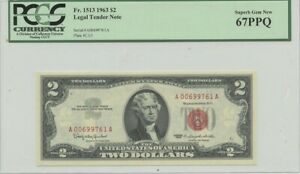 1963 $2 Legal Tender FR#1513 PCGS 67 Superb Gem PPQ