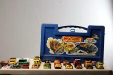 Lot of 30  Matchbox Lesney Cars Trucks  w/ Case Porsche Ferrari Lambo BP Tow